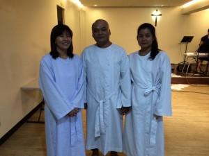 Shu Jen & family baptism