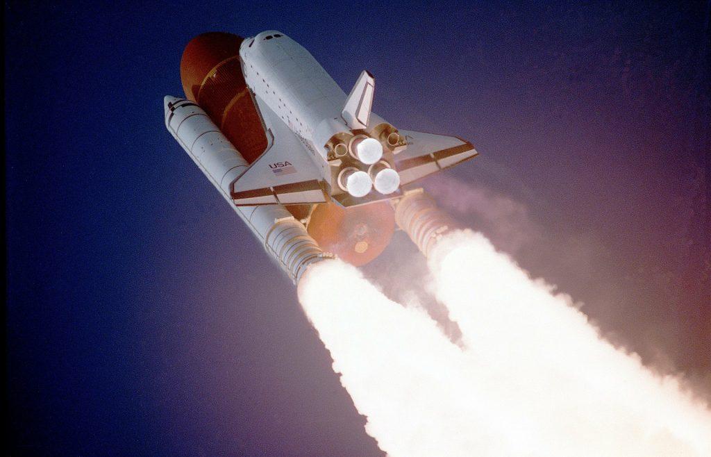 space shuttle launching