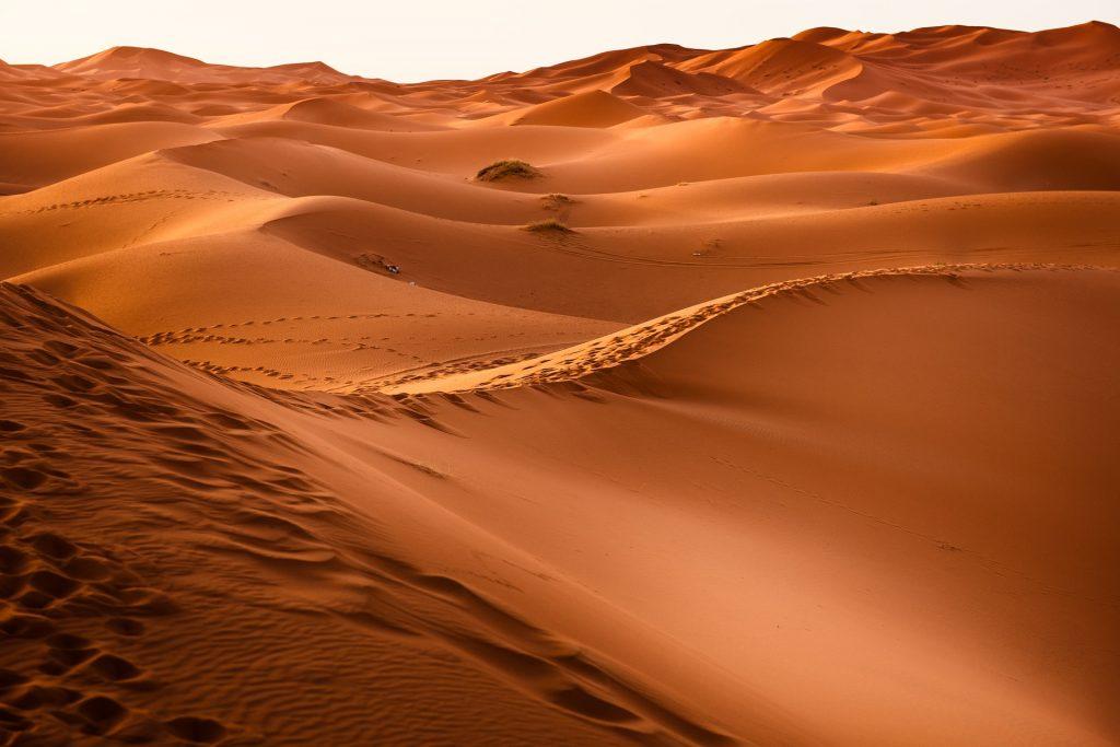 empty desert hills
