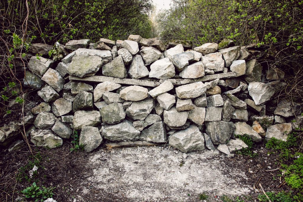 barrier made from stones