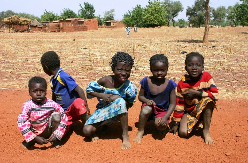 African children posing together