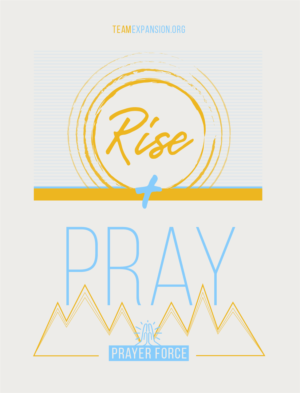 Get a Free Rise and Pray Window Cling - Team Expansion